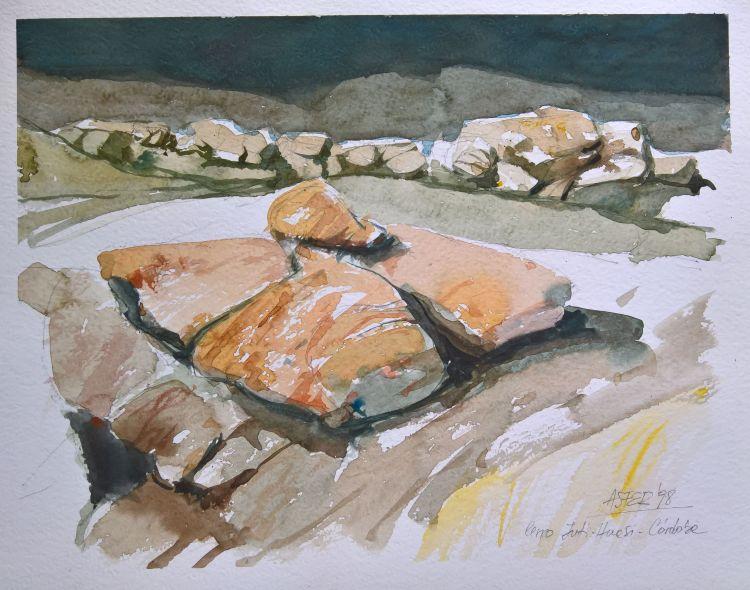 """""""Piedras"""" - Cerro Inti Huasi - acuarela / acuarela / 1998"""