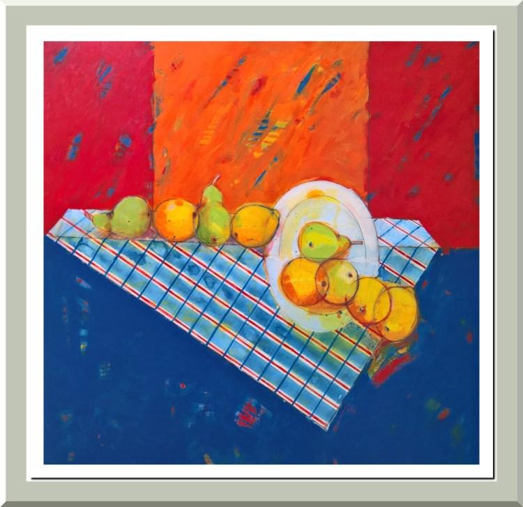 9 frutas con fondo naranja - 2018