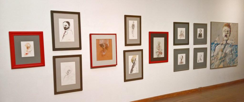 """Galería  de 12 obras de la serie """"El Otro"""""""