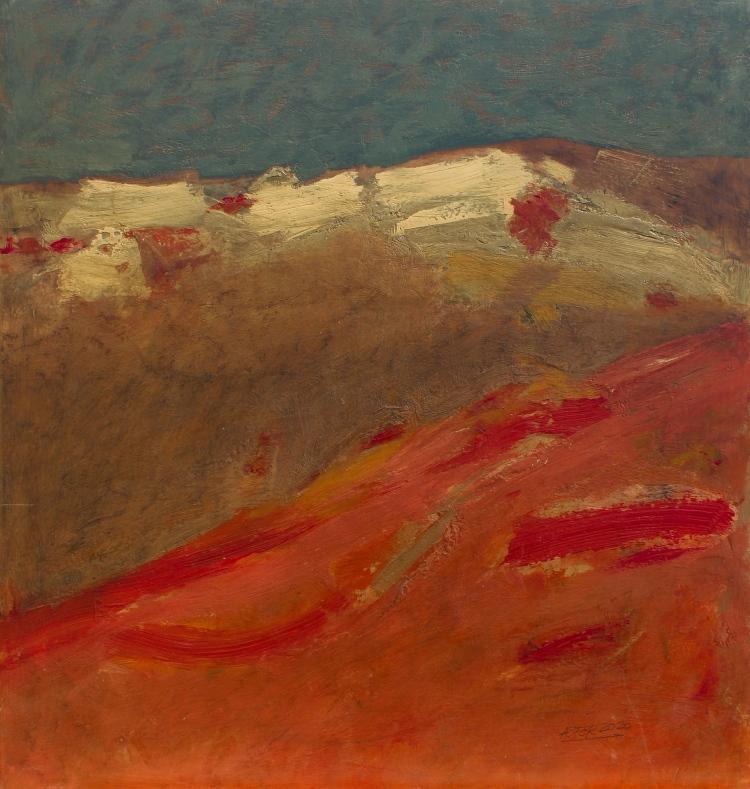 Pastos altos - acrílico - 56x60 cm - 2020