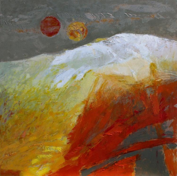 Nieve entre dos soles -  acrílico - 120x120 cm - 2020