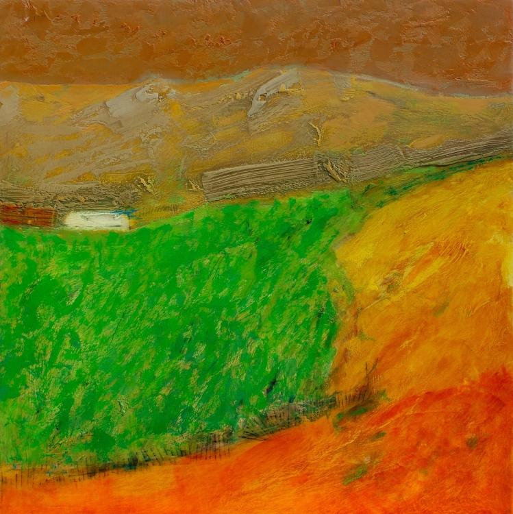 Alfalfar de otoño - díptico2 - acrílico - 60x60cm - 2020
