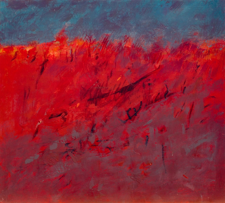 Fuego y ceniza - acrílico - 70x63 - 2020
