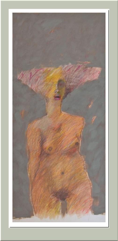 Mujer de frente -  Mixta - 1997