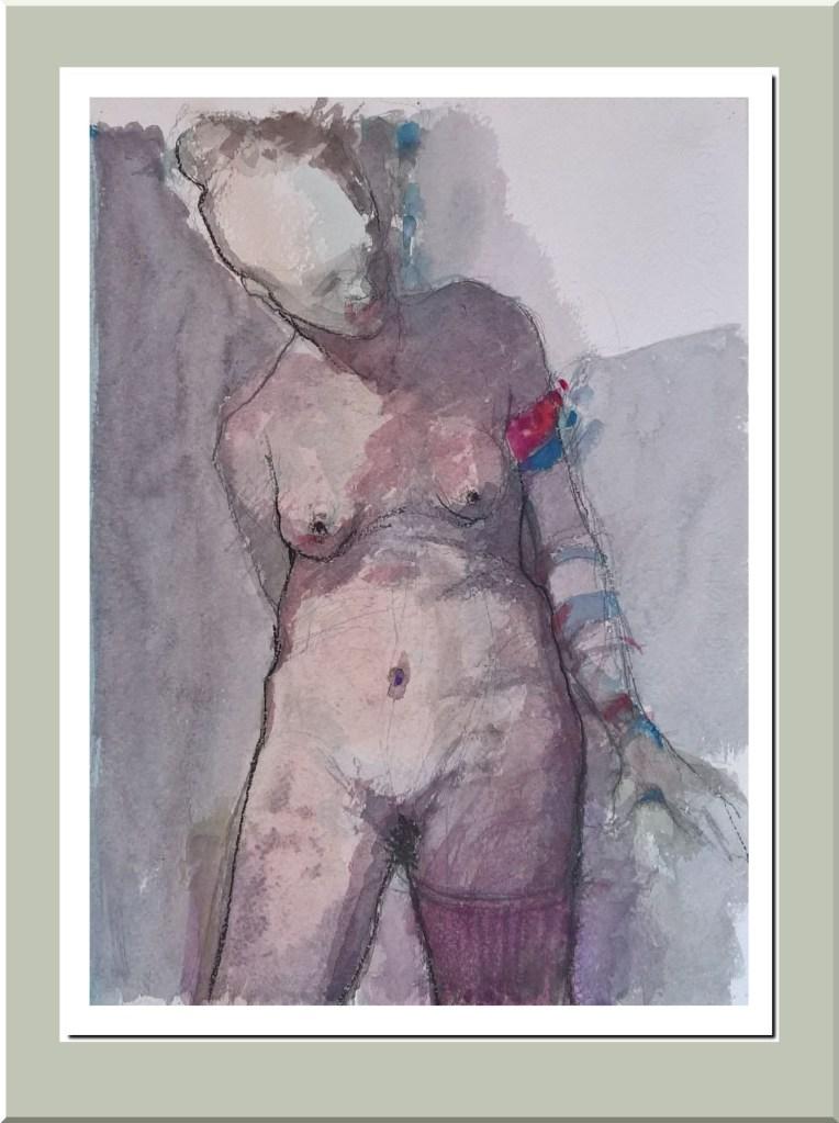 Desnudo cabeza inclinada - 2018